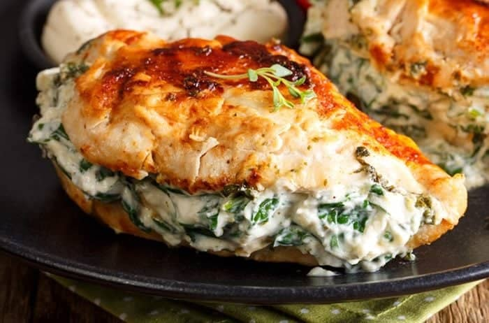 spinach breast chicken stuffed cream cheese